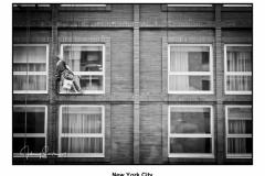 New York City BW window man