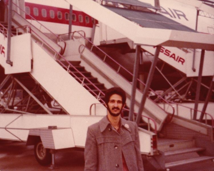 Geneva Airport - Me during Mongo Santamaria Tour Switzerland 1980