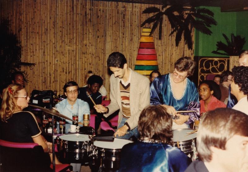 Jamming with Brazilian band - Helsinki Finland 1980