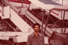 Geneva Airport - Me during Mongo Santamaria Tour Switzerland 1980
