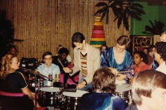 Jamming with Brazilian band - Helsinki Finland 1980