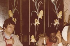 Mongo & Tour Agent at Paris Restaurant 1979