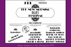 NEW MORNING FESTIVAL Book Flyer 1979