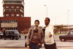 With Allen Hoist - Heathrow Airport -London 1980