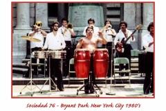 Sociedad 76 Bryant Park NYC 1980